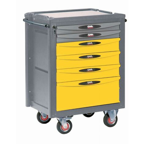 Servante d'atelier renault 6 tiroirs SAM - SERVI640R