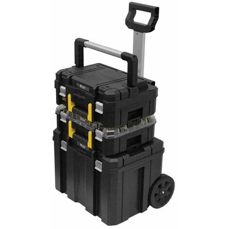 Servante d'atelier Stanley Fatmax Coffre 3 Modules FMST1-80103 Chariot modulable à poignée