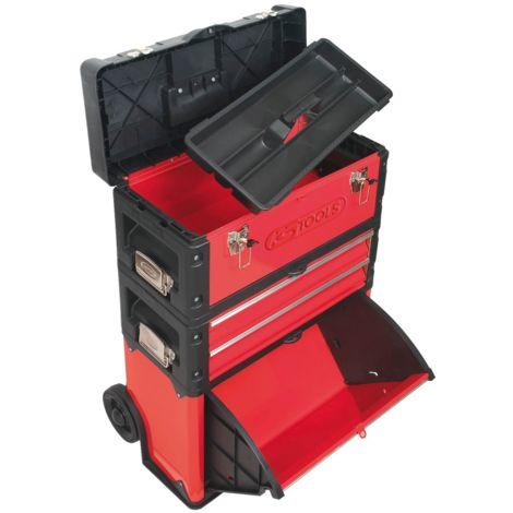 Servante mobile bimatière à 4 compartiments KS Tools