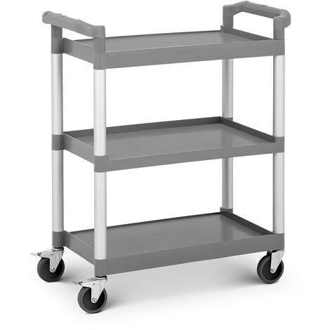 Servierwagen Küchenwagen Rollwagen Rollen Transportwagen Kunststoff 3 Borde 60kg