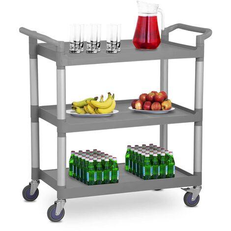 Servierwagen Teewagen Küchenwagen Gastro 3 Borde 4 Räder bis 180 KG