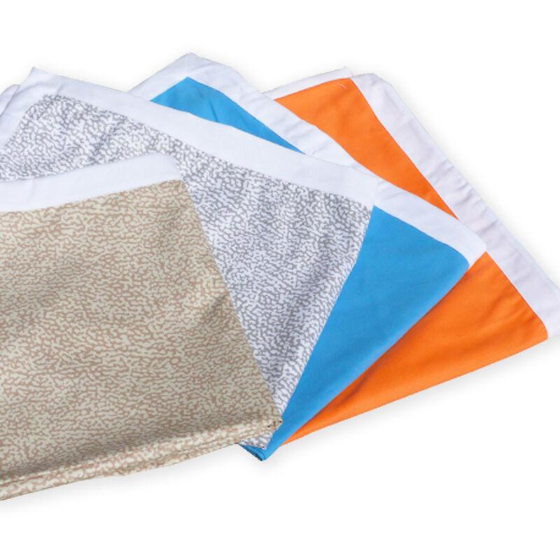 Serviette de plage colorée en microfibre avec poches pour lits de plage   Beige