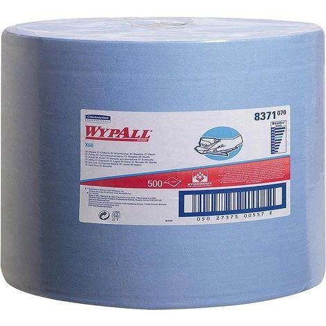 Serviette Papier WYPALL X60 31x38cm hellbleu 500 Bl.
