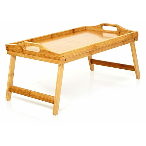 """main image of """"Serving tray multifunctional 50 x 23 x 30 cm fold out legs bamboo"""""""