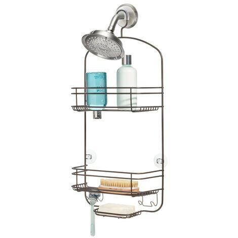 Serviteur de douche à suspendre 2 paniers étroit weston - IDesign - Interdesign - Orange