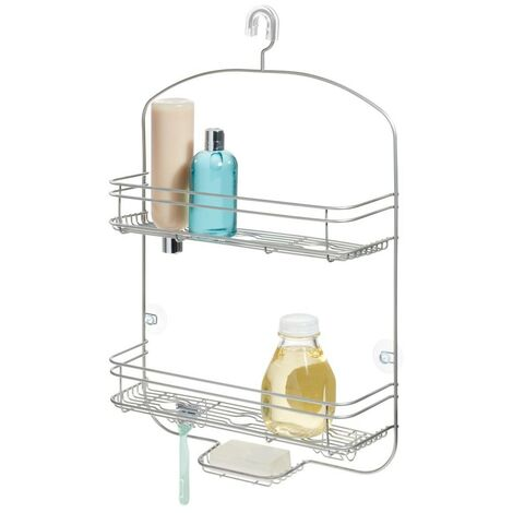 Serviteur de douche à suspendre 2 paniers large bronze weston - IDesign - Interdesign - Beige