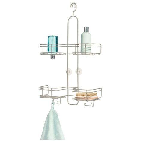 Serviteur de douche à suspendre 4 paniers weston - IDesign - Interdesign - Argent