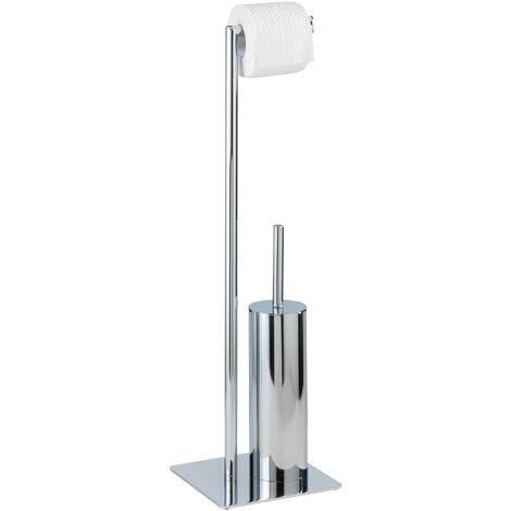 Serviteur WC, brosse WC et dérouleur papier toilette, Recco