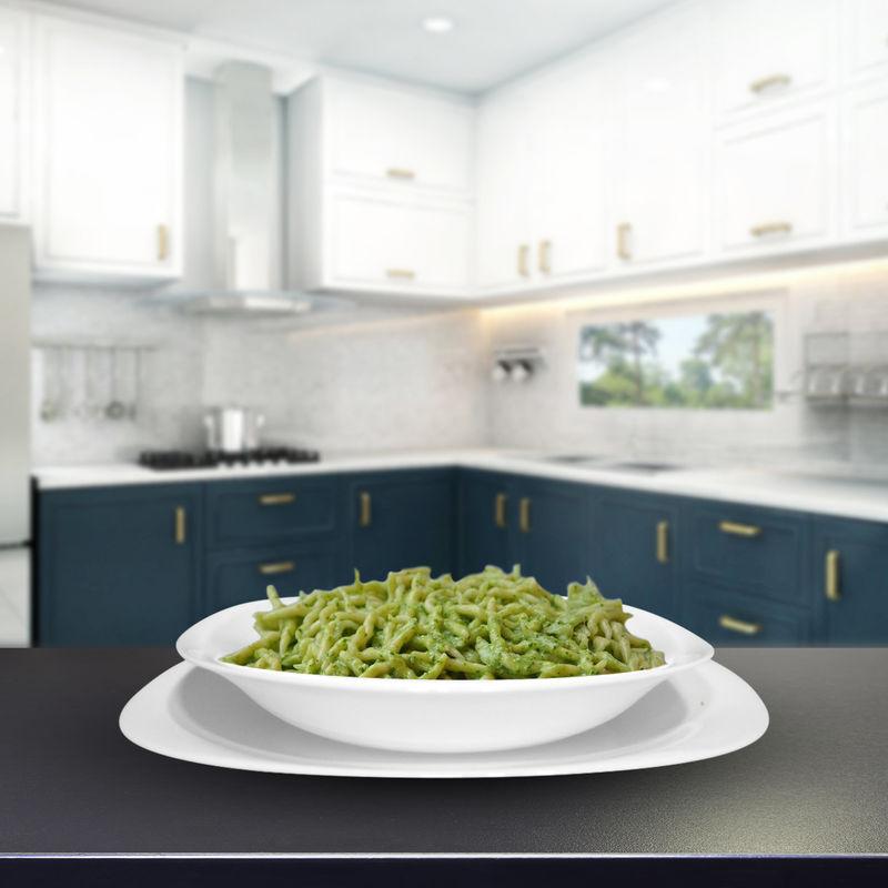 Image of Servizio 18 Piatti Piatto Bianco Per Dessert Vetro Temperato Parma Bormioli - ROCCO BORMIOLI