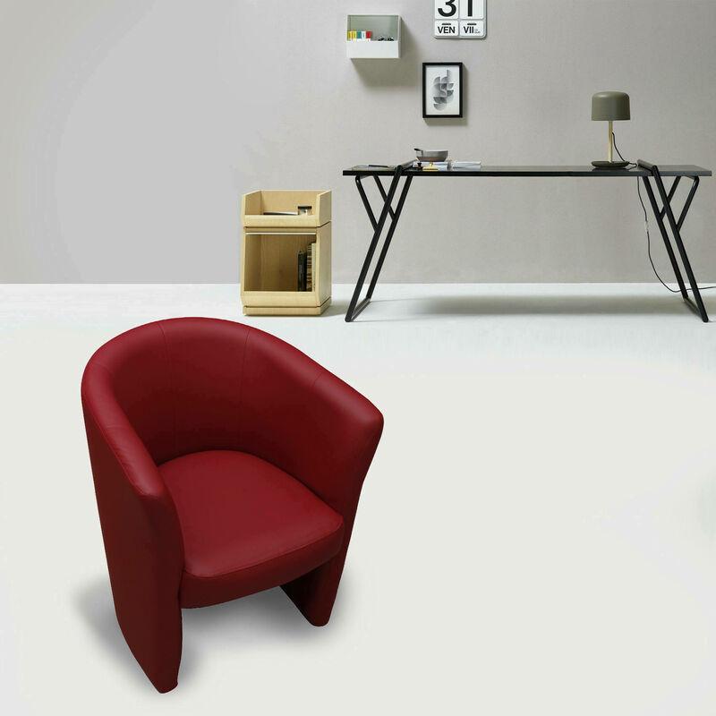 Sessel aus roter Öko-Lederpolsterung
