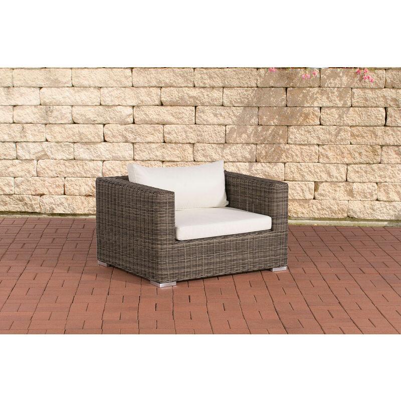 CLP - Luxus Sessel Casablanca 5mm_graumeliert-Cremeweiss
