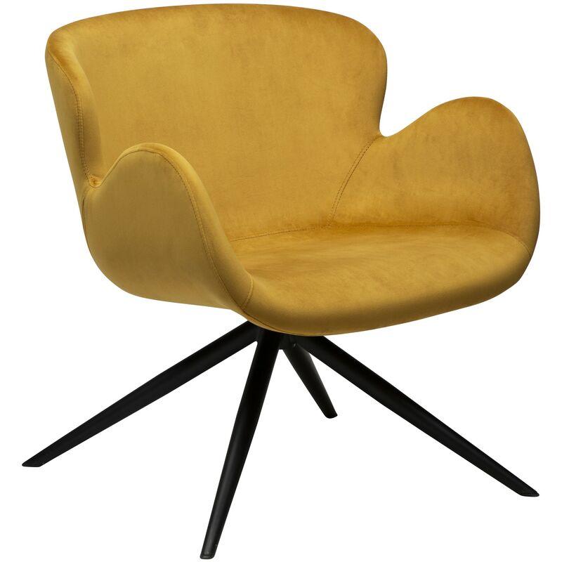 Pkline - Sessel Danform Velours gelb Esszimmerstuhl Polsterstuhl Stuhl Armlehnenstuhl 52-700200198