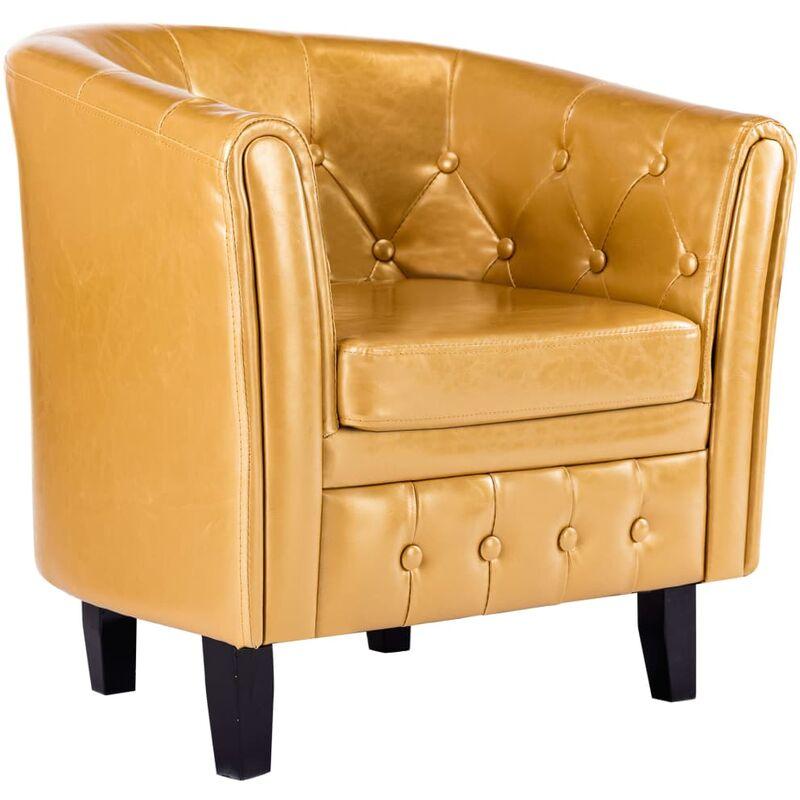 Sessel Golden Kunstleder - VIDAXL