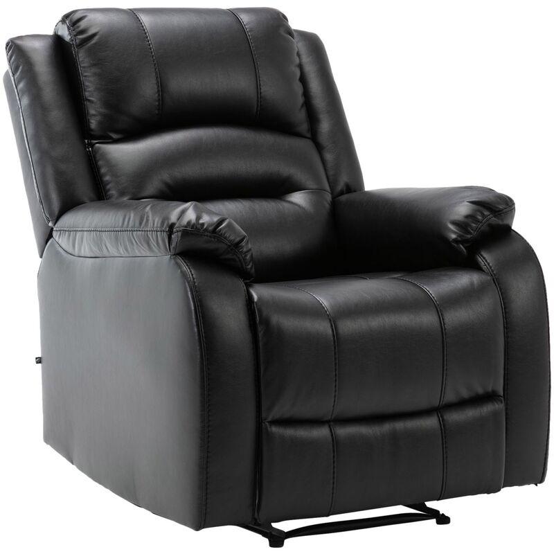Sessel Kerpen-schwarz-Echtleder - CLP