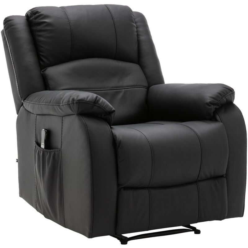 Sessel Kerpen mit Massagefunktion-schwarz-Kunstleder - CLP