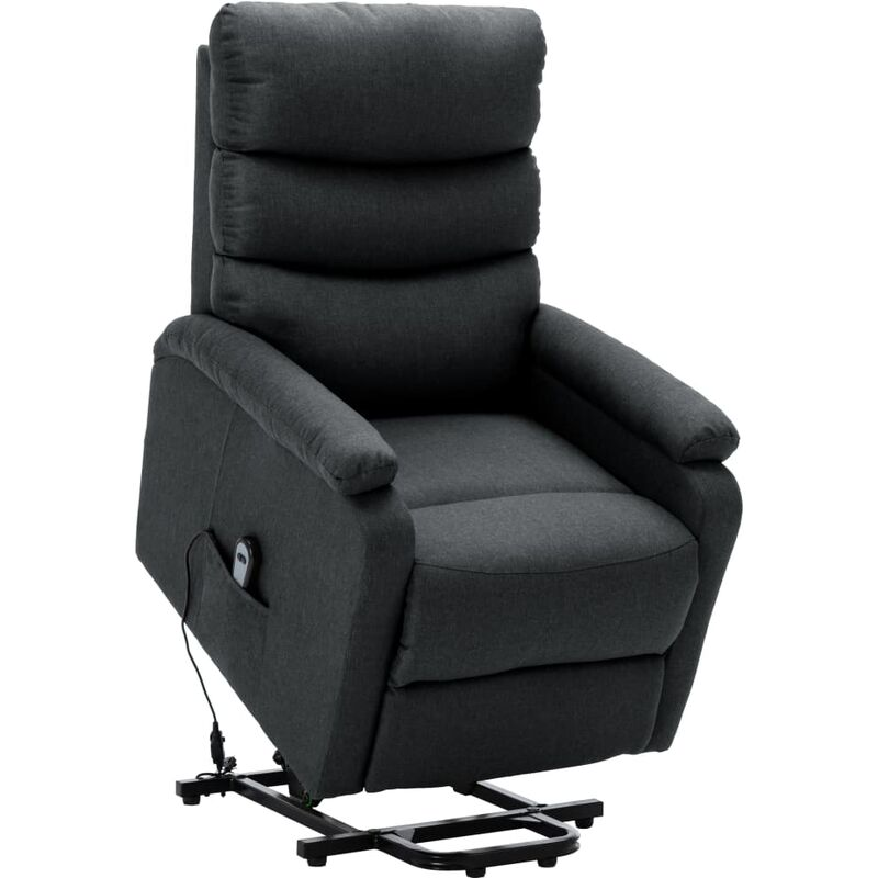 Sessel mit Aufstehhilfe Dunkelgrau Stoff - VIDAXL