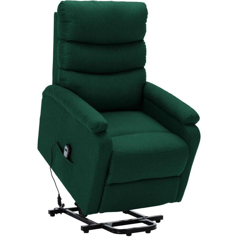 Sessel mit Aufstehhilfe Dunkelgrün Stoff - VIDAXL