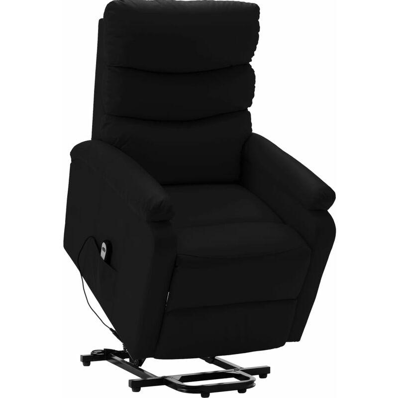 Sessel mit Aufstehhilfe Schwarz Kunstleder - VIDAXL