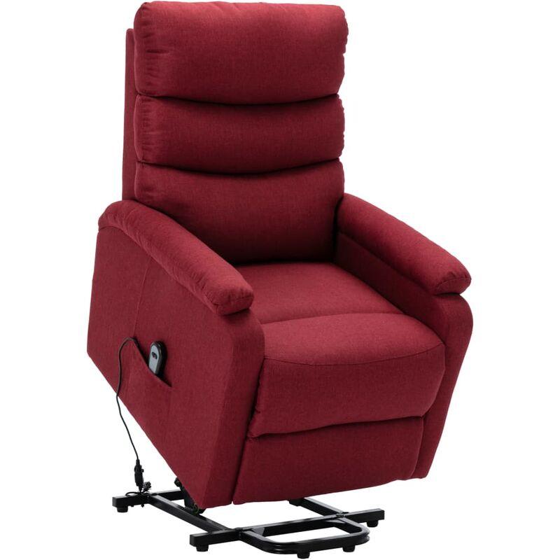 Sessel mit Aufstehhilfe Weinrot Stoff - VIDAXL