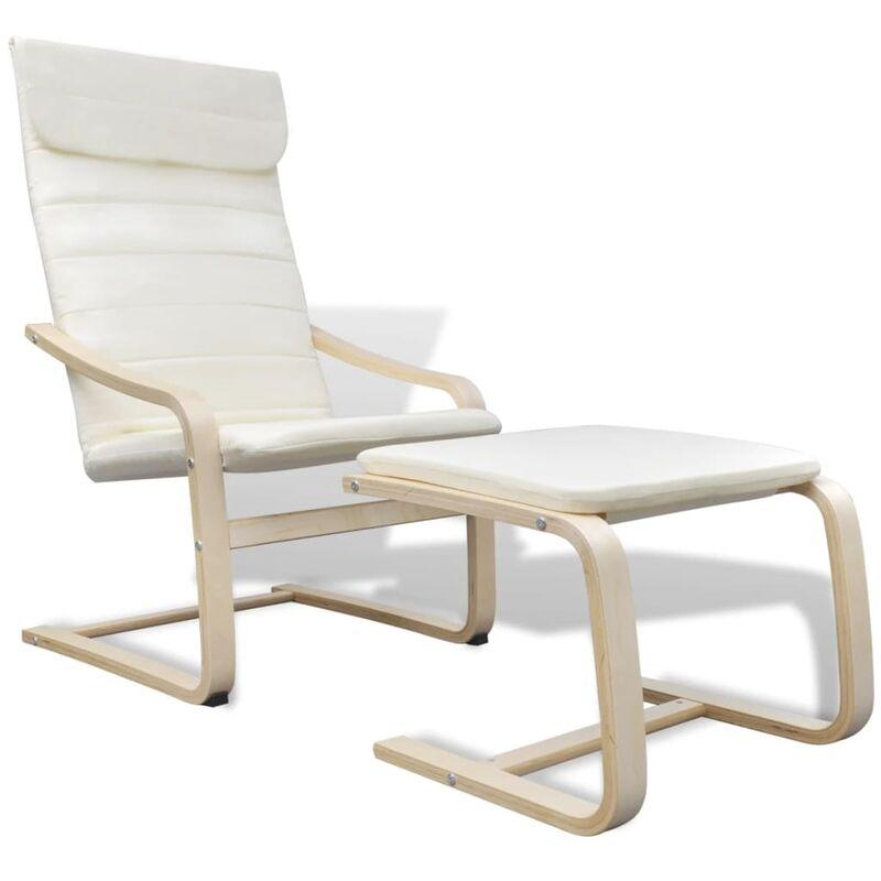 Sessel mit Bugholz-Rahmen Stoff Creme - VIDAXL