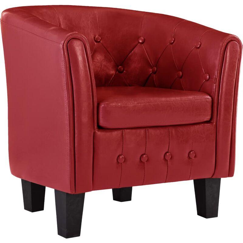 Sessel Rot Kunstleder - VIDAXL