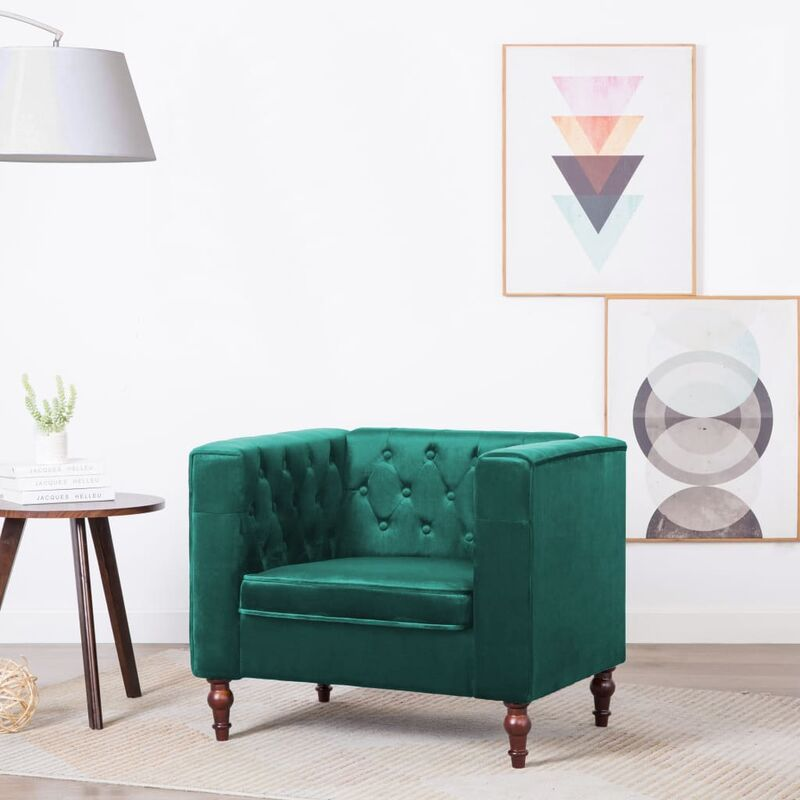 Vidaxl - Sessel Samt Grün