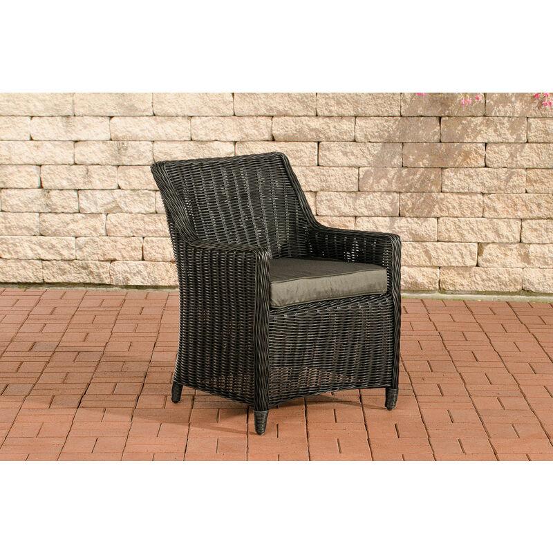 CLP - Luxus Sessel Sandnes-rund_schwarz-Anthrazit