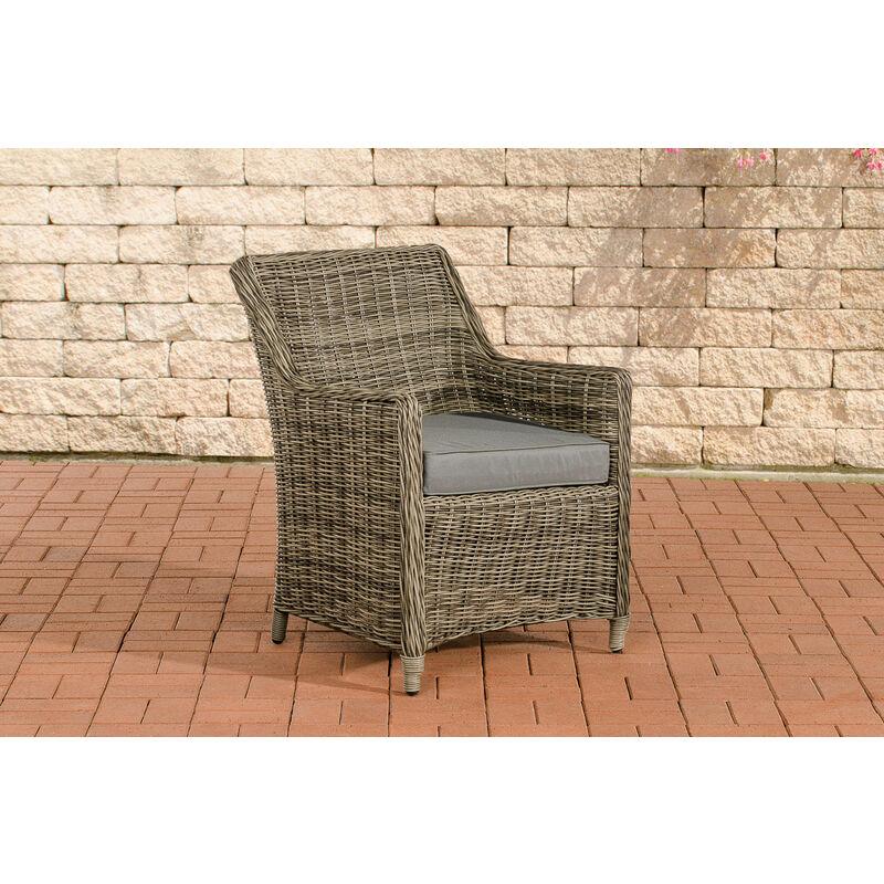 Luxus Sessel Sandnes-rund_graumeliert-Eisengrau - CLP