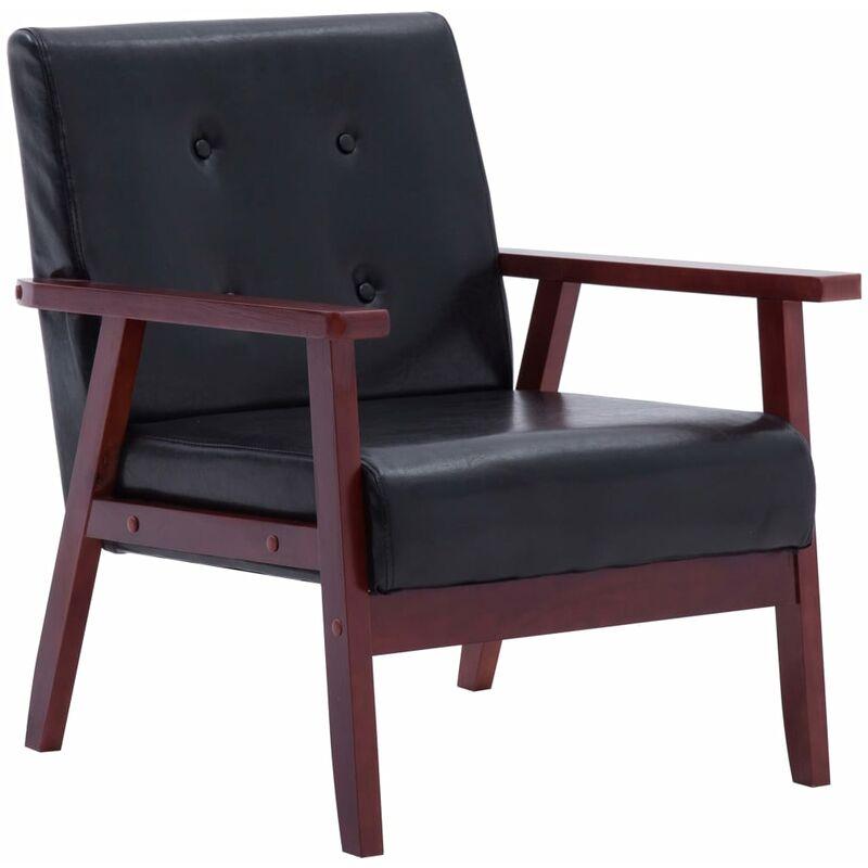 Sessel Schwarz Kunstleder - VIDAXL