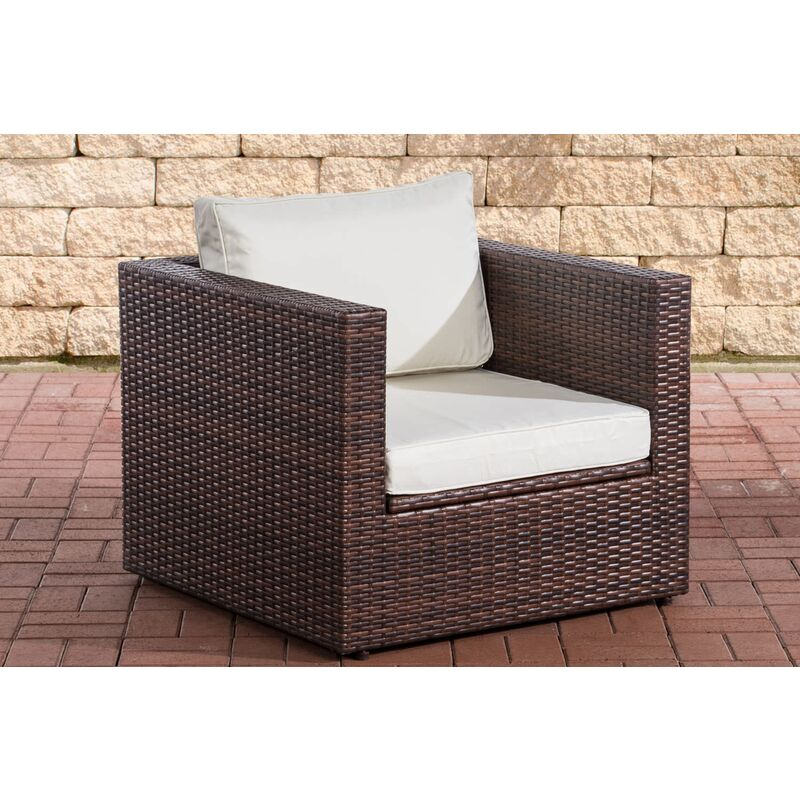 CLP - Sessel Tibera-braunmeliert-Cremeweiß