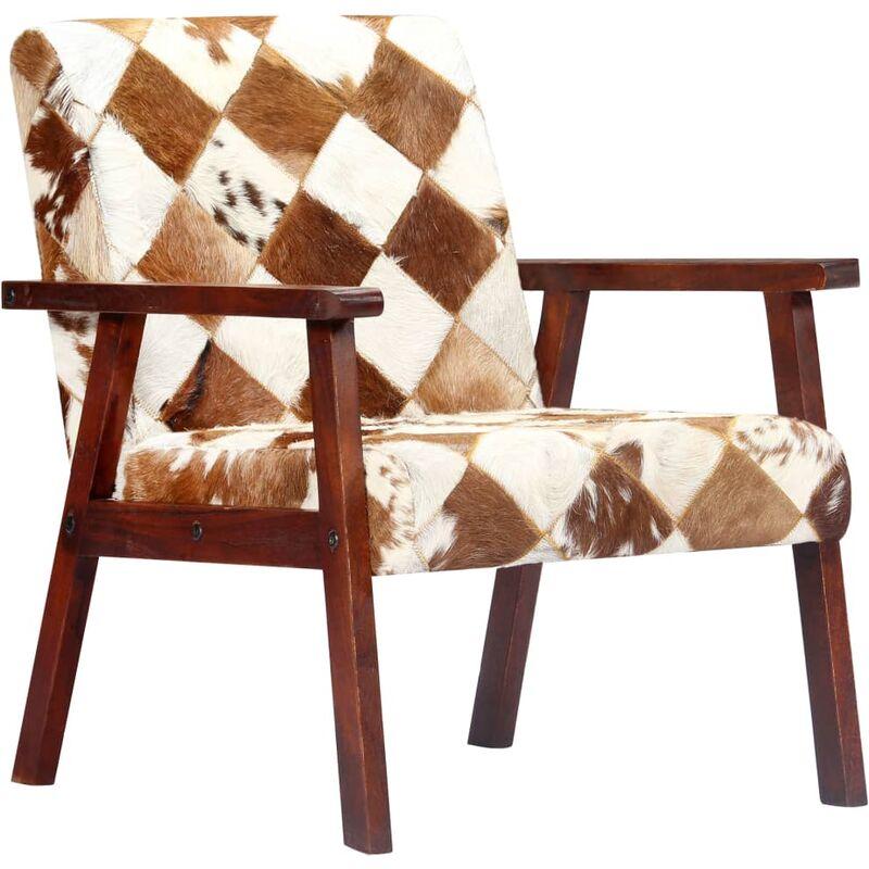 Vidaxl - Sessel Echtleder Weiß Braun