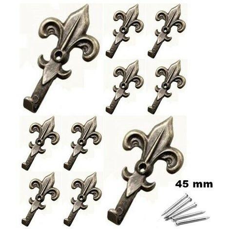 200 chiodini ganci appendiquadri misura 1 dimensioni: 10 x 10 mm 100 attaccaglie per appendere i quadri