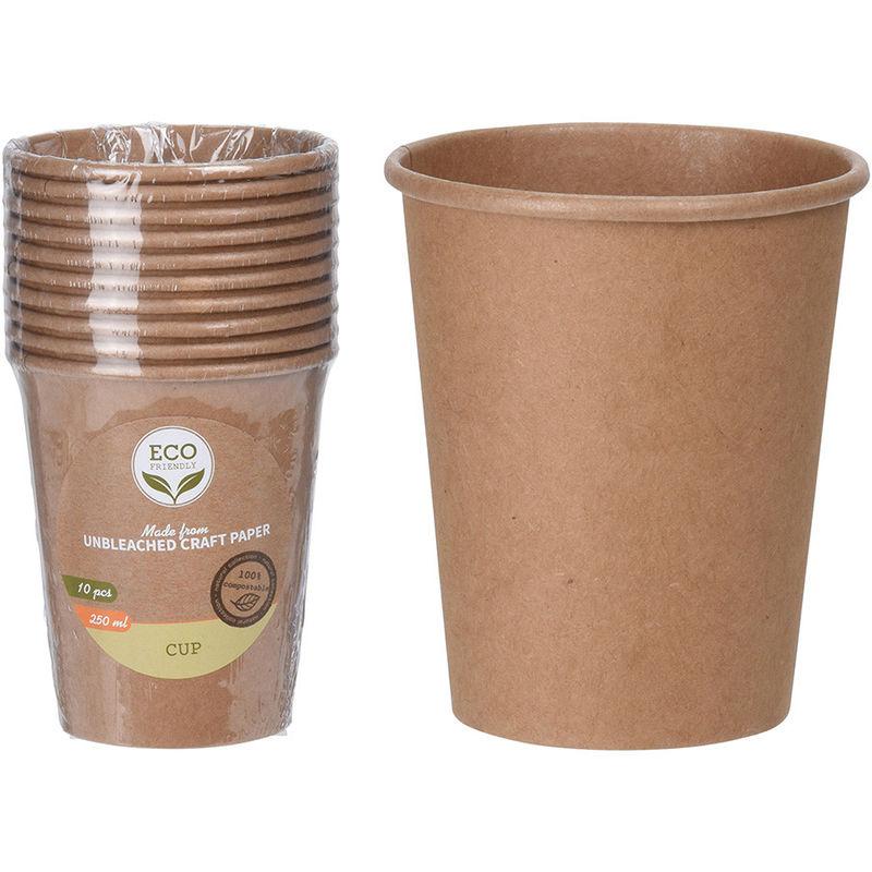 Set 10 Vasos Biodegradables 250Ml - Neoferr..