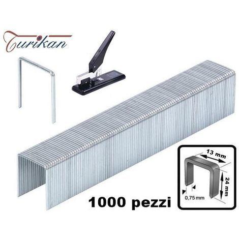 SET 1000 GRAFFETTE SPILLE 24 mm PER CUCITRICE SPILLATRICE AD ALTO SPESSORE