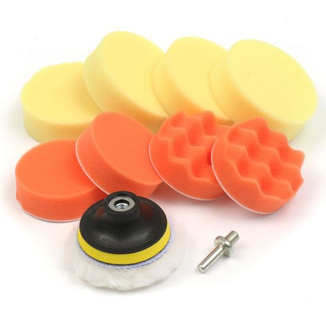 Set 10pcs 3 inch Sponge Polishing Polisher Wheel Pad For Car Hasaki