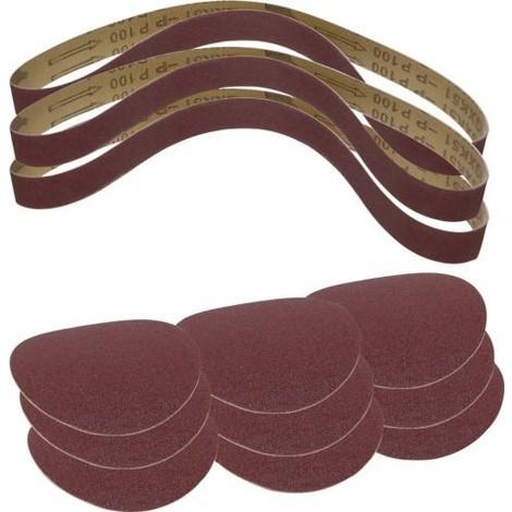 Set 12 pièces bandes et disques abrasifs 3903301707 SCHEPPACH