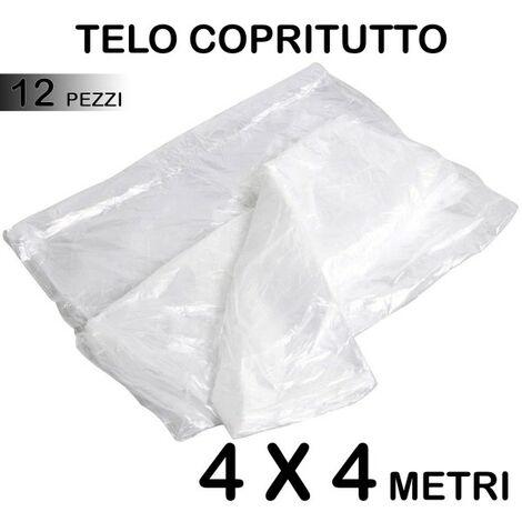 Set 12 telo copritutto multiuso protegge pavimenti mobili for Telo multiuso per auto