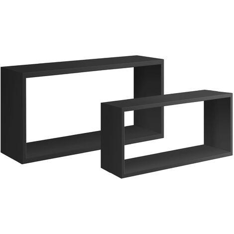 Mensole Da Muro.Set 2 Cubi Mensole Da Parete Pensili A Giorno Cubo Design Mensola Moderna Bislungo