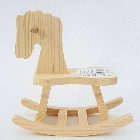 Cavallo A Dondolo Legno.Set 2 Pezzi Cavallo Dondolo Legno Rf 63823 Decorazione 12x11x6 5cm