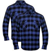 Set 2 pz Camicia di flanella a quadri da uomo blu e nero taglia XL 87fa09100c9c