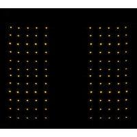 Set 2 Tende Luminose Natalizie a Batteria 50X120 CM Luci Natalizie a Cascata 144 LED Bianco Caldo