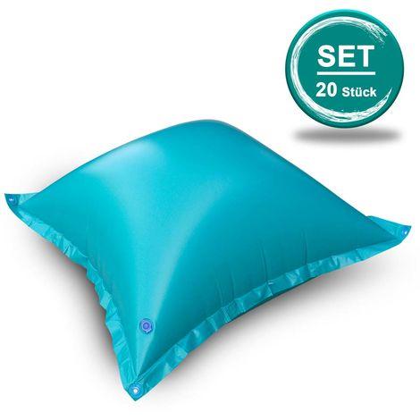 SET> 20 Stk. PVC Winterkissen inkl. Sicherheitsventil + 4 Ösen