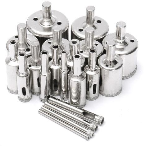 Set 20Pcs Hole Saw Trepan Drill Bits 4-40Mm For Glass Tile Drill Hasaki