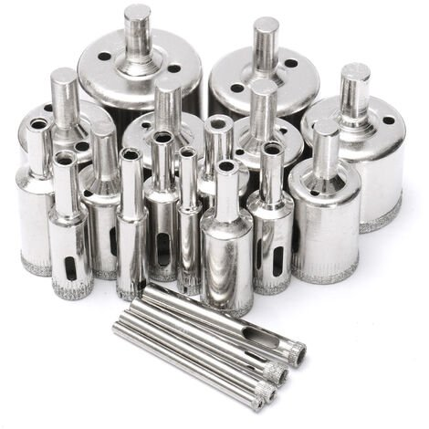 Set 20Pcs Trepan Hole Saw Drill Bits 4-40MM For Mohoo Glass Tile Drill