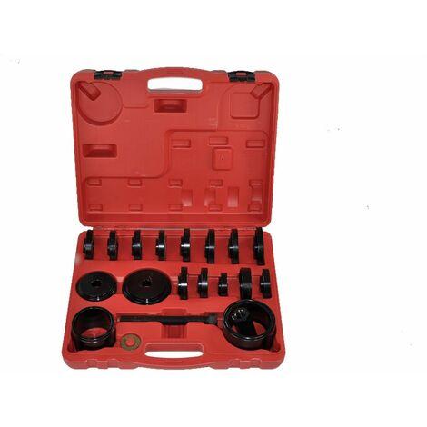 Set 23 pc Extractor Rodamiento de Transmisión de Rueda Delantera y Adaptadores Extracción