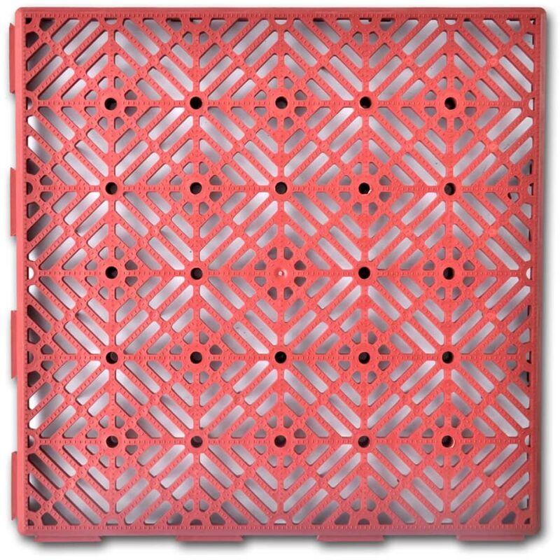 Piastrelle In Plastica Giardino.Set 24 Pezzi Piastrelle Plastica Pavimento Giardino 29 X 29 Cm