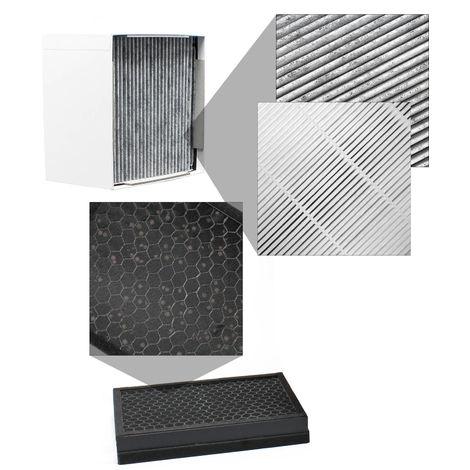 Set 2x filtros para el sistema de extracción humos soldadura AOYUE FEK-01, HEPA y carbón activado