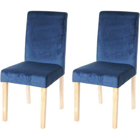 L 47 x P 47 x H 77,5 cm Set di 2 sedie da sala da pranzo scandinavo in velluto verde FITATHOME