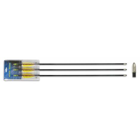 """Set 3 flechas de fibra 30"""" pulgadas para arcos de tiro diametro 6,9mm Hellbow recomendadas para arcos compuestos y recurvos de 40 libras o más"""