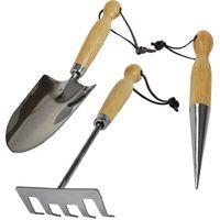 Set 3 outils de jardinage Inox Krisalys